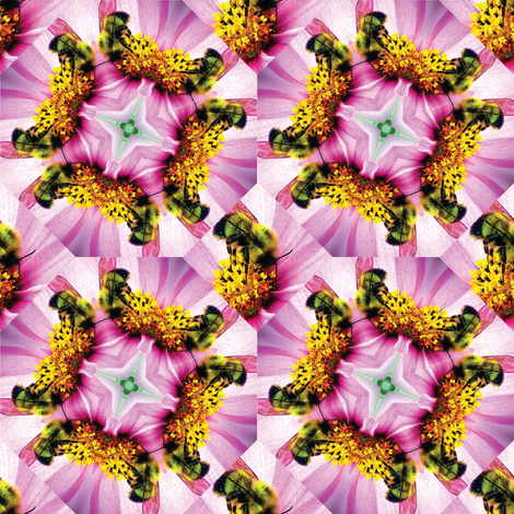 Bumblebees and flowers fabric by hmooreart on Spoonflower - custom fabric