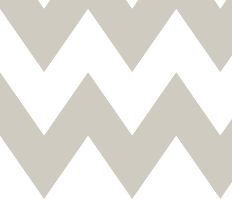 chevron xl beige and white fabric by misstiina on Spoonflower - custom fabric
