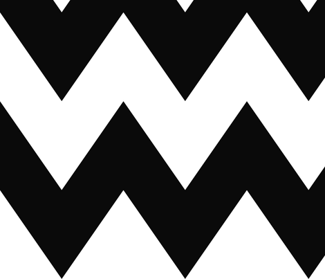 chevron xl black and white fabric by misstiina on Spoonflower - custom fabric
