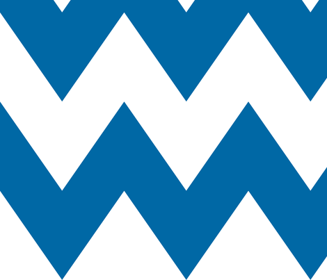chevron xl blue and white fabric by misstiina on Spoonflower - custom fabric