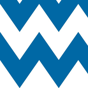 chevron xl blue and white