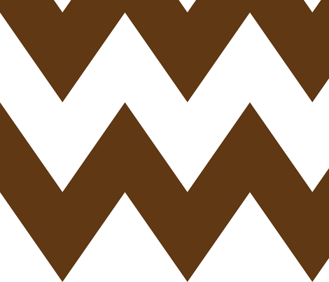 chevron xl brown and white fabric by misstiina on Spoonflower - custom fabric