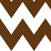 chevron xl brown and white