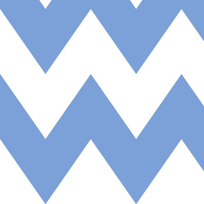 chevron xl cornflower blue and white