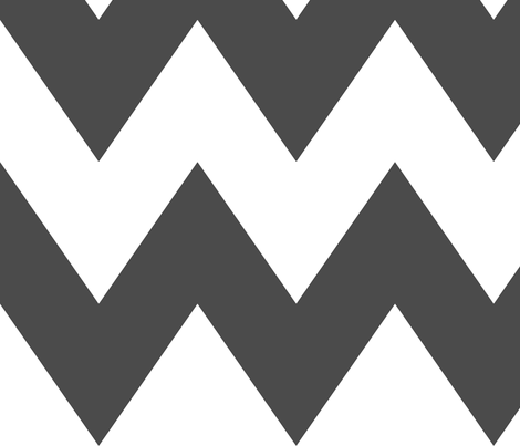 chevron xl dark grey and white fabric by misstiina on Spoonflower - custom fabric