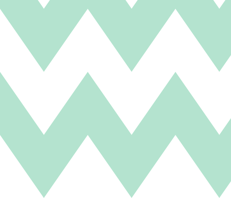 chevron xl mint green and white fabric by misstiina on Spoonflower - custom fabric