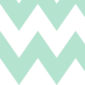 chevron xl mint green and white