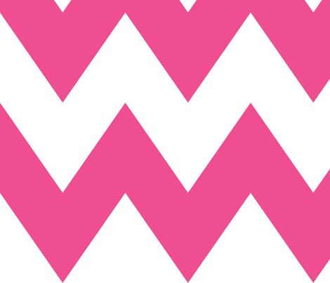 chevron xl dark pink and white fabric by misstiina on Spoonflower - custom fabric