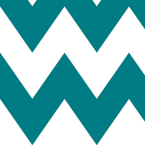 chevron xl dark teal and white