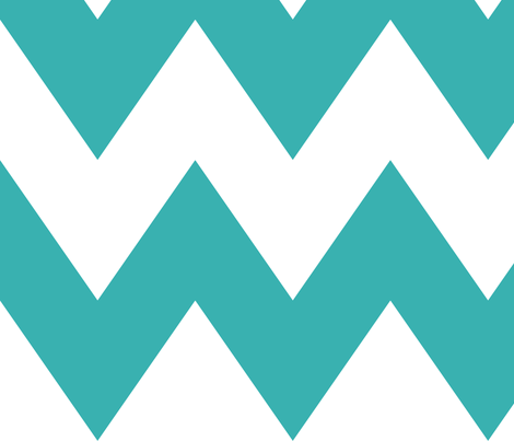 chevron xl teal fabric by misstiina on Spoonflower - custom fabric