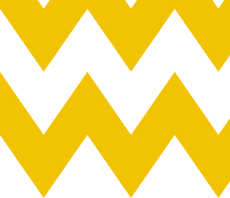 chevron xl golden yellow and white