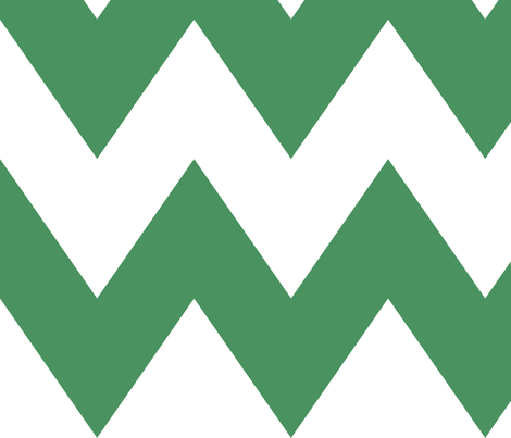 chevron xl green and white fabric by misstiina on Spoonflower - custom fabric