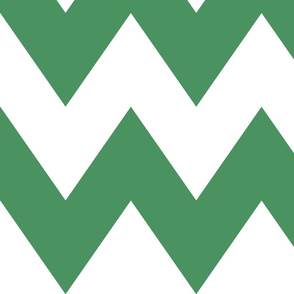 chevron xl green and white