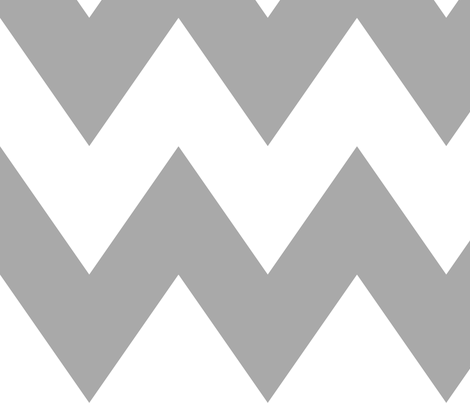 chevron xl grey and white fabric by misstiina on Spoonflower - custom fabric