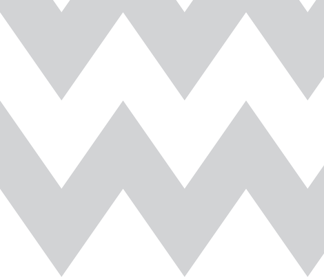 chevron xl light grey and white fabric by misstiina on Spoonflower - custom fabric