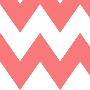 chevron xl coral and white
