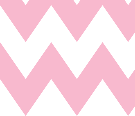 chevron xl light pink and white fabric by misstiina on Spoonflower - custom fabric