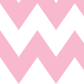 chevron xl light pink and white