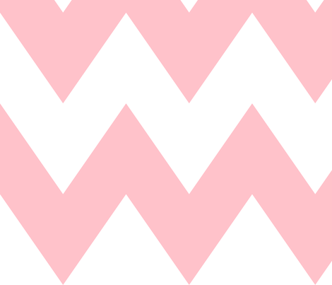 chevron xl light pink fabric by misstiina on Spoonflower - custom fabric