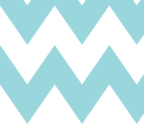 chevron xl teal and white fabric by misstiina on Spoonflower - custom fabric