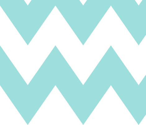 chevron xl light teal fabric by misstiina on Spoonflower - custom fabric