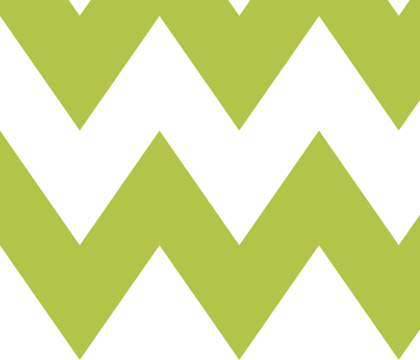 chevron xl lime green and white fabric by misstiina on Spoonflower - custom fabric