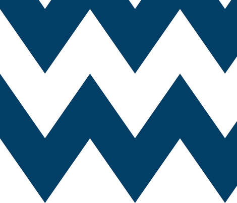 chevron xl navy blue and white