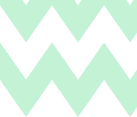 chevron xl ice mint green fabric by misstiina on Spoonflower - custom fabric