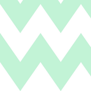 chevron xl ice mint green