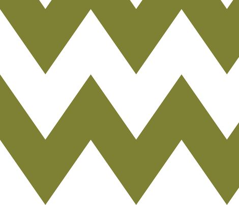 chevron xl olive green and white
