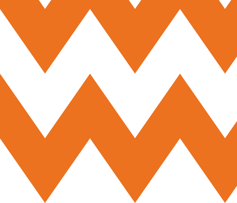 chevron xl orange and white fabric by misstiina on Spoonflower - custom fabric