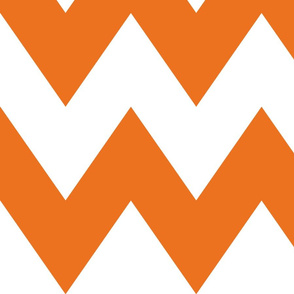 chevron xl orange and white