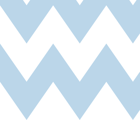 chevron xl powder blue and white