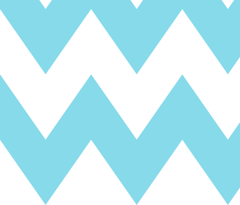 chevron xl sky blue fabric by misstiina on Spoonflower - custom fabric