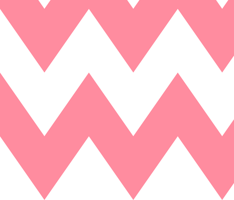 chevron xl pretty pink and white fabric by misstiina on Spoonflower - custom fabric