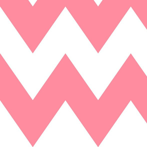 chevron xl pretty pink and white