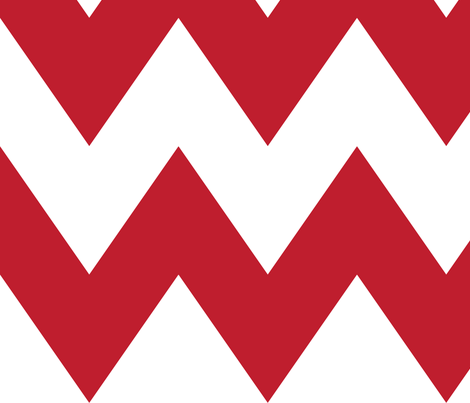 chevron xl red and white fabric by misstiina on Spoonflower - custom fabric