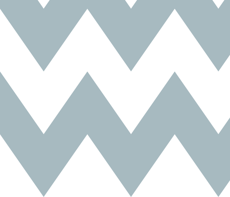 chevron xl slate blue and white fabric by misstiina on Spoonflower - custom fabric
