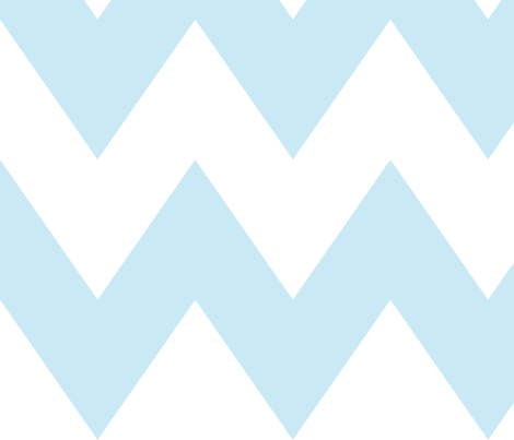 chevron xl ice blue fabric by misstiina on Spoonflower - custom fabric
