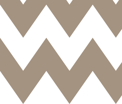 chevron xl tan and white fabric by misstiina on Spoonflower - custom fabric