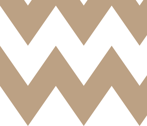chevron xl tan fabric by misstiina on Spoonflower - custom fabric
