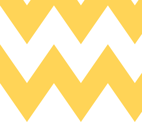 chevron xl yellow and white fabric by misstiina on Spoonflower - custom fabric