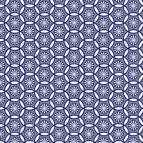 Shashiko Circle fabric by keweenawchris on Spoonflower - custom fabric