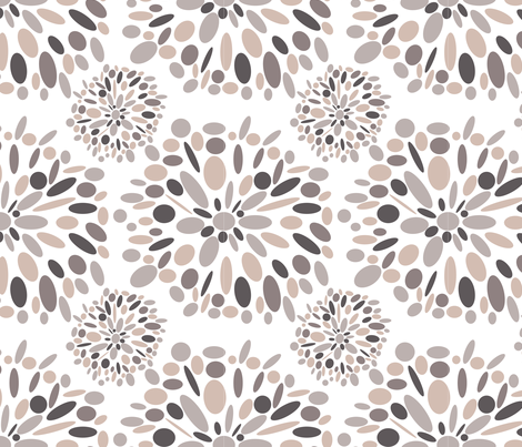 Rosey Retro fabric by juliapaigedesigns on Spoonflower - custom fabric