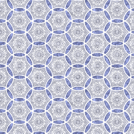 Shashiko Circle Faded Deco fabric by keweenawchris on Spoonflower - custom fabric