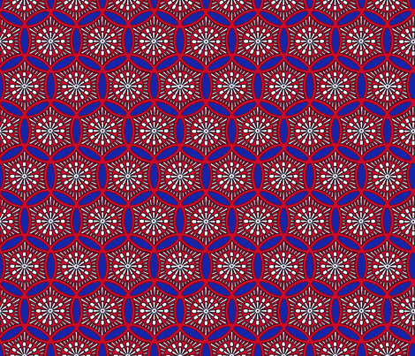 Shashiko Circle American Tile fabric by keweenawchris on Spoonflower - custom fabric