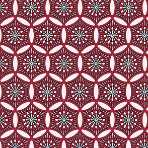 Shashiko Circle Deco Red
