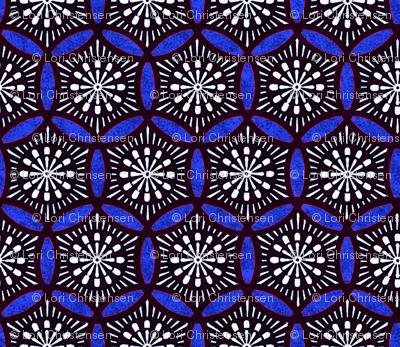 Shashiko Circle Roman Tile