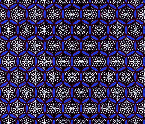 Shashiko Circle Roman Tile fabric by keweenawchris on Spoonflower - custom fabric