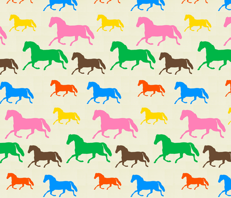 Horse of a Different Color fabric by ragan on Spoonflower - custom fabric